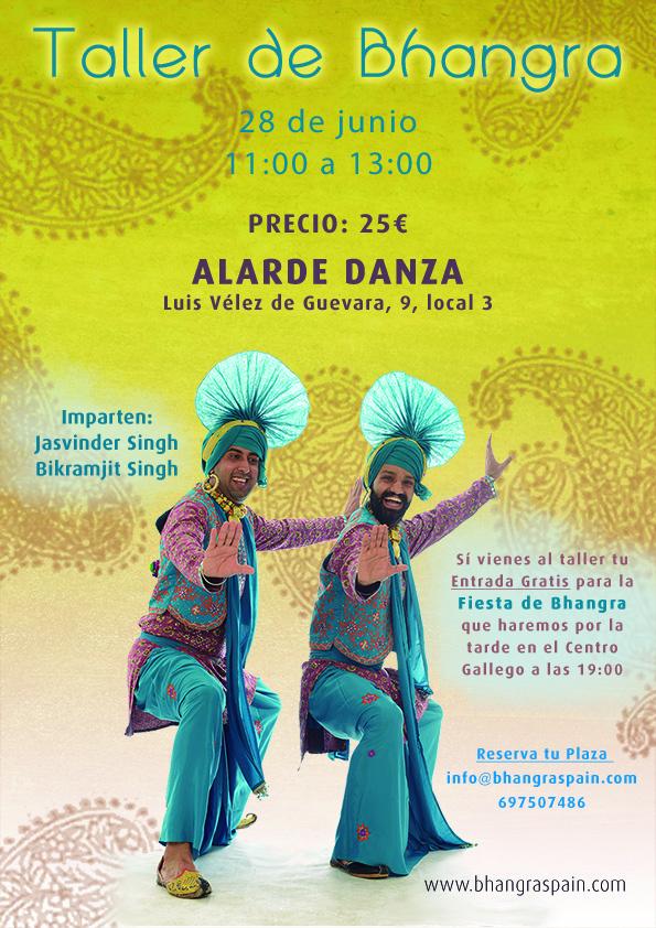 taller de bhangra en Madrid dia 28 de Junio 2014