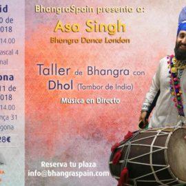 Taller de Bhangra con dhol